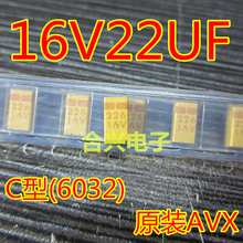Buy 10 PCS/LOT SMD tantalum capacitor 16 v 22 uf type C, 6032 accuracy 20% for $1.08 in AliExpress store