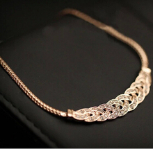 Summer Style Crystal Spiral Necklace For Women Chokers Necklaces Fashion Necklaces Pendants Vintage Snake Chain Necklace Jewelry(China (Mainland))