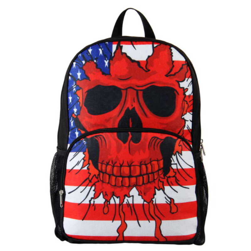 VEEVAN Unisex's 3D Skull Backpack Preppy 2014 New Arrival Monster High Dolls Cheap School Bacpack Fashion Travel Bags(China (Mainland))