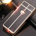 2016 New luxury brand arc pulse lighter Metal USB charging windproof lighters Flameless electronic cigarette lighter