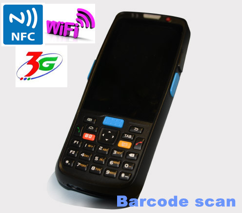 Wireless barcode scanner android bluetotoh 3g wifi courier pda with RFID reader TS-5000(China (Mainland))