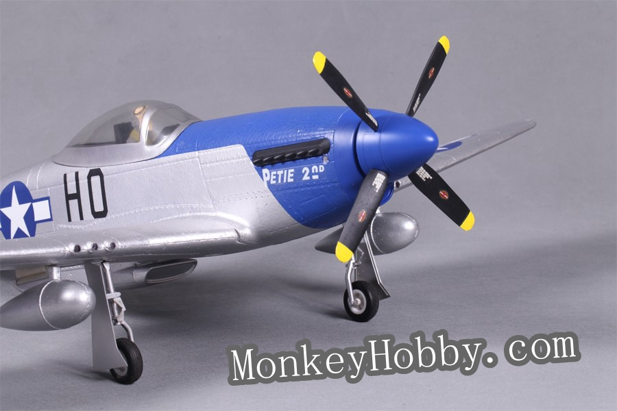 FMS RC airplane 800mm / 0.8M P51 (V2) – Petie 2nd with FMS 3X Stabilization FMS016 (RTF)