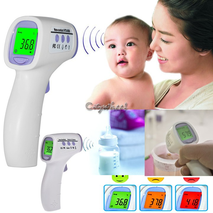 Free shipping Electronic Thermometer Muti fuction Baby Digital Termometro Adult Body Forehead Infrared Thermometer(China (Mainland))