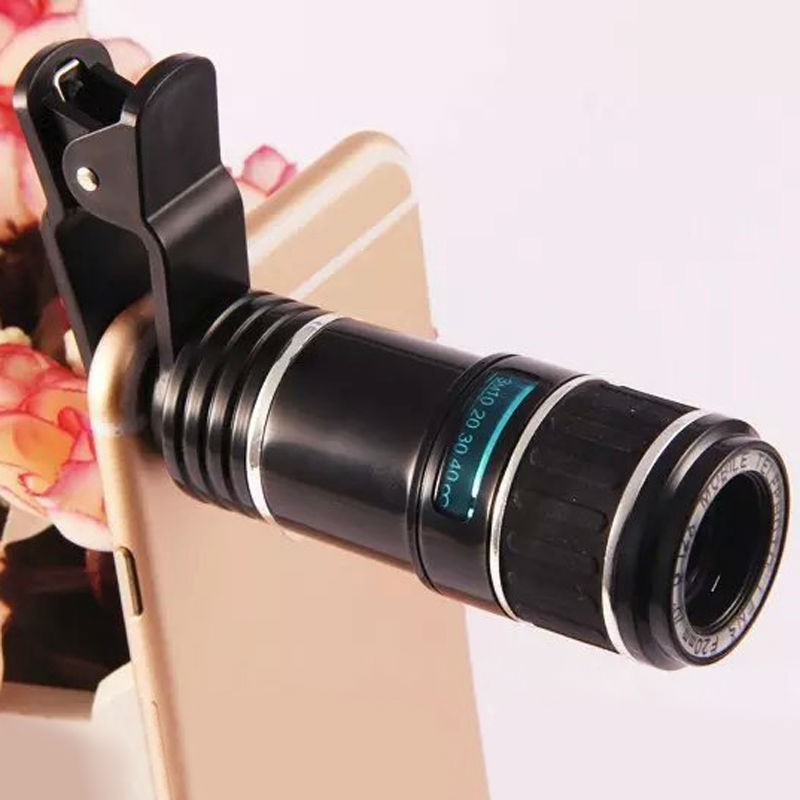 Best Price Super Quality 12X Universal Telephoto Lens Mobile Phone Optical Zoom Telescope Camera For iPhone For Samsung(China (Mainland))
