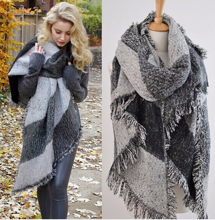 za winter 2014 scarf plaid new designer unisex acrylic basic wrap shawls womens female knitted fall pashmina chirstmas giftОдежда и ак�е��уары<br><br><br>Aliexpress