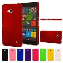 Для Microsoft Nokia Lumia 640 1109 ультратонкий матовой прорезиненные небуксующий жесткий пластмассовый чехол назад защитный чехол