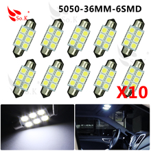 Car styling c5w Car led festoon light reading light 39mm 36mm 31mm 5050 COB 12V three core led light car dome light Parking(China (Mainland))