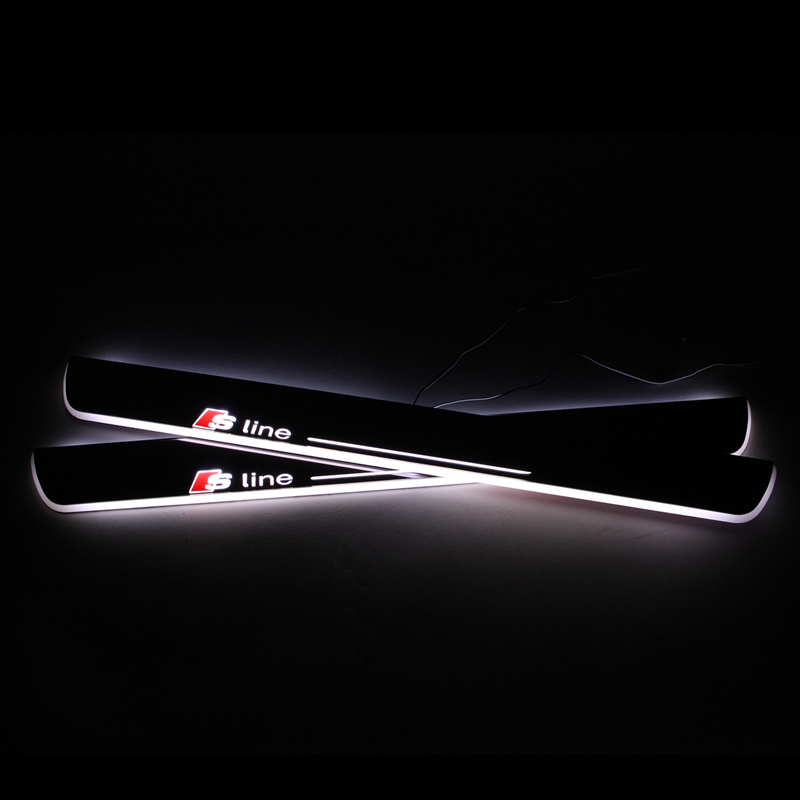 LED door sill For Audi A5 Sportback S5 Led moving door scuff plate Pathway light , 2 pieces front door light ,Car accessory<br><br>Aliexpress