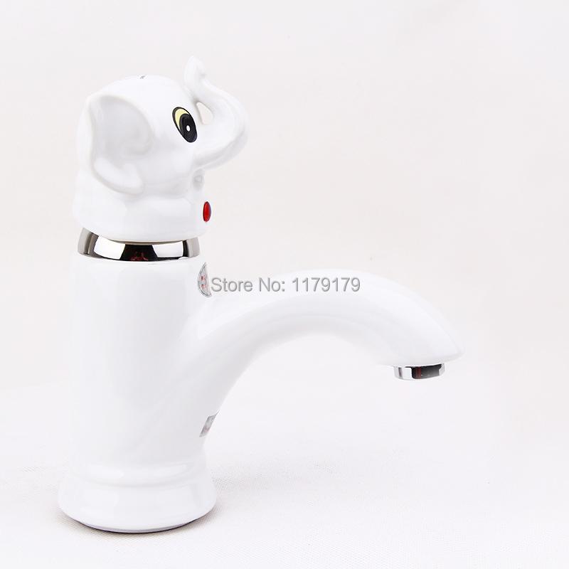 Фотография Creative white   Ceramic Brass  tap faucet, wash basin hot & cool faucet basin faucet TC022