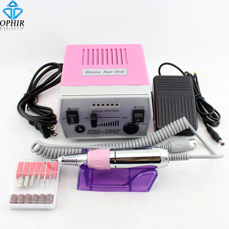 OPHIR NEW Nail Tools 220V EU Plug Improved Overheat &amp; Vibration 30000 RPM Electric Nail File Drill #KD160(220V)<br><br>Aliexpress