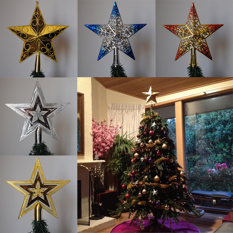 1Pcs 20cm Christmas Tree Top Star Christmas Tree Topper for Table Ornaments Christmas Tree Pendant(China (Mainland))