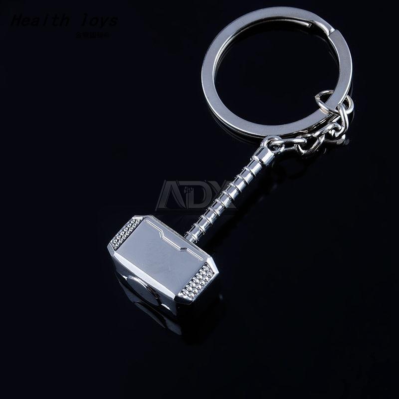 Avengers Thor's Hammer Keychain Mjolnir Model Zinc AlloyAction toy figure Thor Men Fans Accessories(China (Mainland))