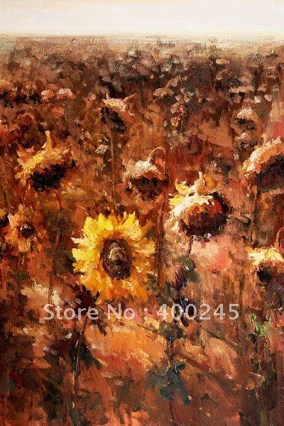 Flower oil painting,Impressionist style,A Sunny Season - II,Musuem Quality!100% hand printed ,free shipping(China (Mainland))