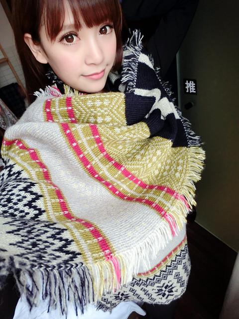 Осень и зима толстые шерстяные шарфы шарф жаккарда шарф снежинка Z негабаритных платок шарф F310 новый дом