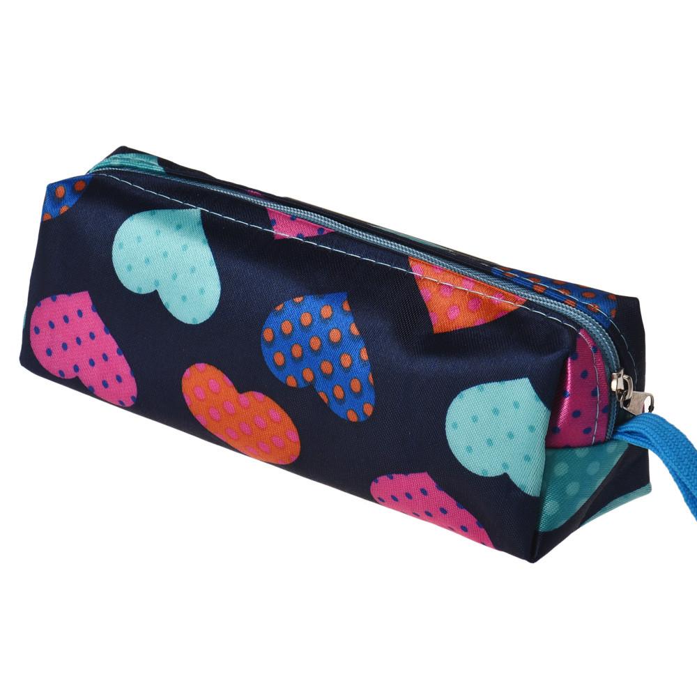 Гаджет  2015 New Fashion Women Makeup Bag Heart Square Multicolor Cosmetic Bag Bolsa de maquillaje Trousse de maquillage Free Shipping  None Камера и Сумки