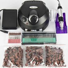 Preto Ferramentas De Unhas Elétrica Prego Broca Máquina 30000 RPM Prego Equipamento Da Arte do prego