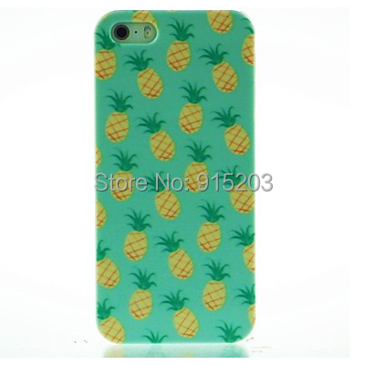 Pineapples Style Case for Apple iPhone 4 4S 5 5S PC Hard Plastic White Sides Cell Phone Covers Wholesale Cheap Price(China (Mainland))