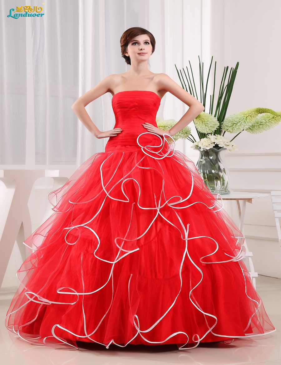 Compare Prices on Red Strapless Ball Gowns- Online Shopping/Buy ...
