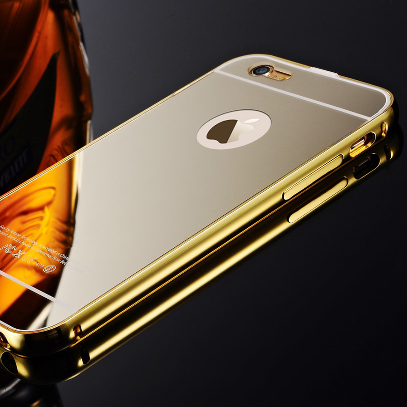 Hc01 slim gold metal aluminum case cover for iphone 5c for Coque iphone 5 miroir