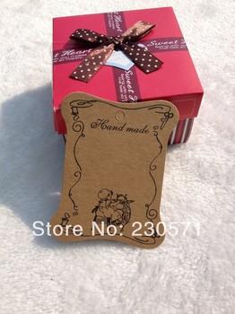 Ss074 DIY Zakka крафт картон теги для скрапбукинг / подарочные карты / этикетки метки / закладки катушки для ленты коллекция