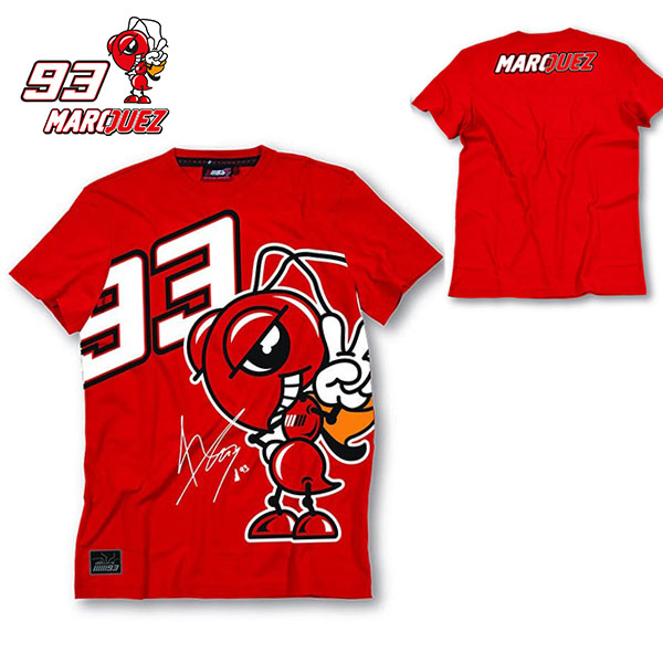 2016 New Fashion Summer MOTO GP 93 Marc Marquez T Shirt Men Motorcycle Short Sleeve T-shirt Casual Tees red plus size S-XL(China (Mainland))