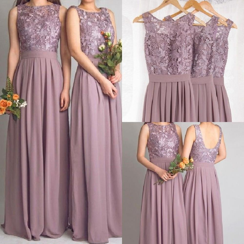 Cheap lace bridesmaid dresses long 2016 new designer for Boda en jardin vestidos