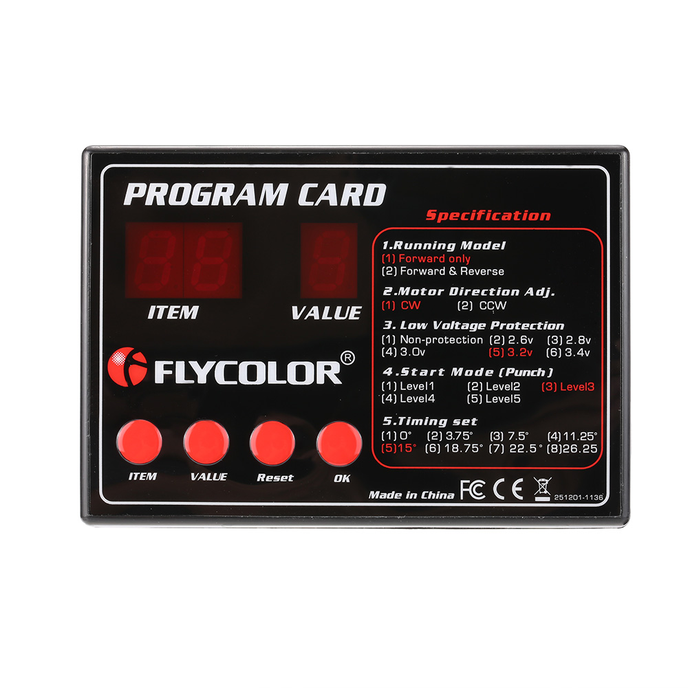 Original Flycolor Programing Card for Remote Control RC Boats ESC Electronic Speed Controller(China (Mainland))