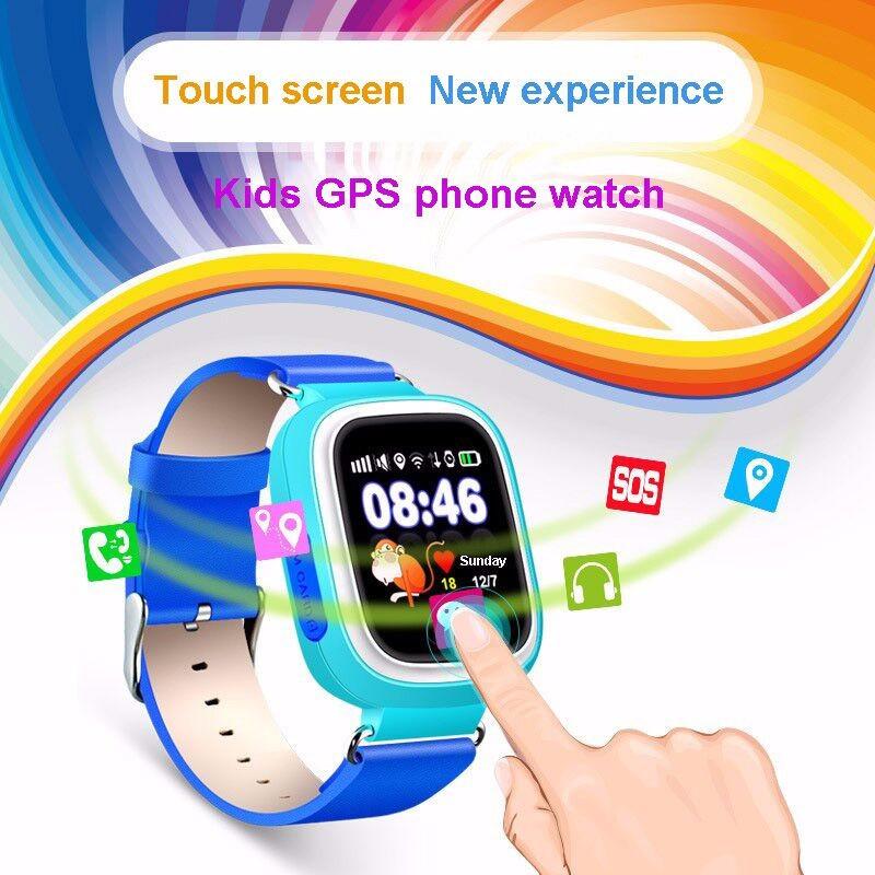 ถูก หน้าจอสัมผัสที่มีสีสันq90 q80 q50 smart watch sosโทรค้นหาสถานที่L Ocatorอุปกรณ์ติดตามจีพีเอสเด็กปลอดภัยต่อต้านหายไปตรวจสอบ