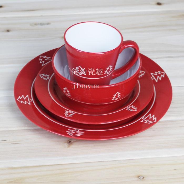 Achetez en gros vaisselle en porcelaine de no l en ligne des grossistes vai - Set de vaisselle de noel ...
