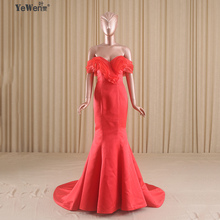V neck off shoulder Long Red Mermaid Wedding Dresses Sexy V-Neck Bridal Gowns lace up back(China (Mainland))