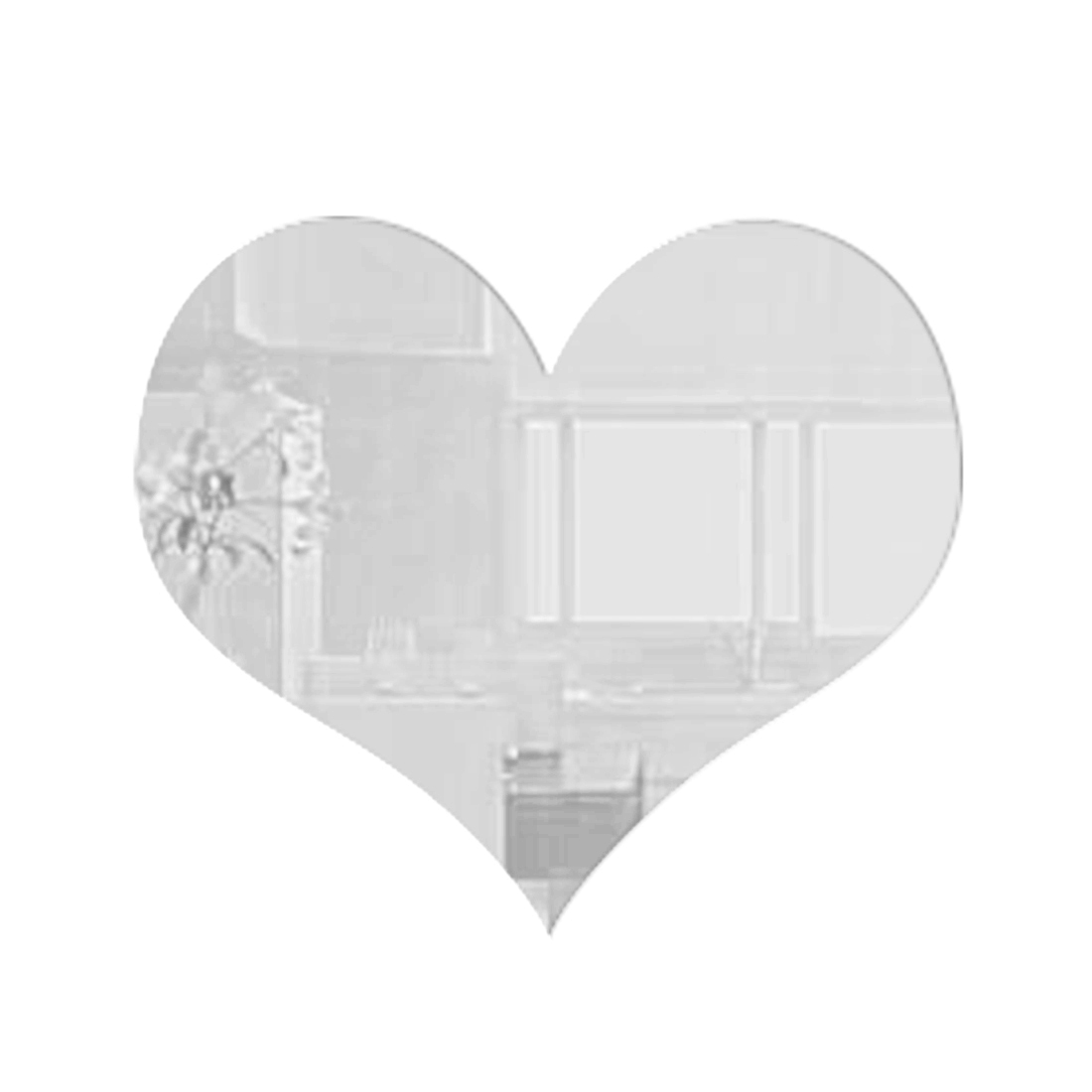 Fashion Wedding Love Home Decoration Heart Mirror Wall Stickers Alphabet DIY Home Decor For Wall(China (Mainland))