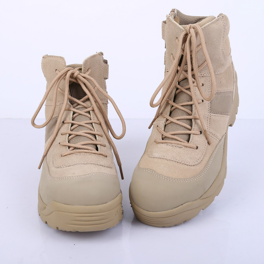New Arrival Men Desert Hiking Boots Nubuck Leather Lace-up Shoes Spring Autumn Ankle Boots Casual Desert Army Boots Size 39-45