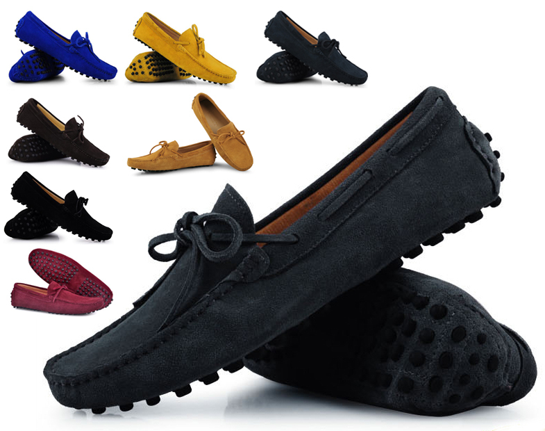 Гаджет  Mens Summer Genuine Leather Suede Breathable Moccasins Driving Shoes Loafer Shoes 8 Colors xx114 sapatos masculinos None Обувь