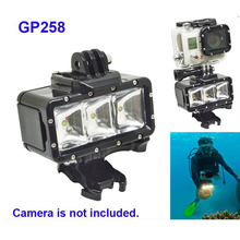 Buy Free Shipping!!30M Diving waterproof LED Video light+battery+buckle mount GITUP GoPro Hero /SJ4000/Xiaomi Yi Cam Accessories for $25.49 in AliExpress store
