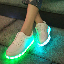2016 Women Men chaussure tenis Led simulation Light up yezzy superstar led basket shoes Luminous with usb for adult femme Female(China (Mainland))