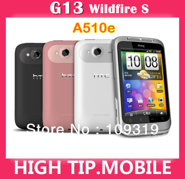 Unlocked Original HTC Brand G13 Wildfire S A510e 3G Wifi 5MP 3.2 Inches Touchscreen Android Moblie Phone Free Shipping(China (Mainland))
