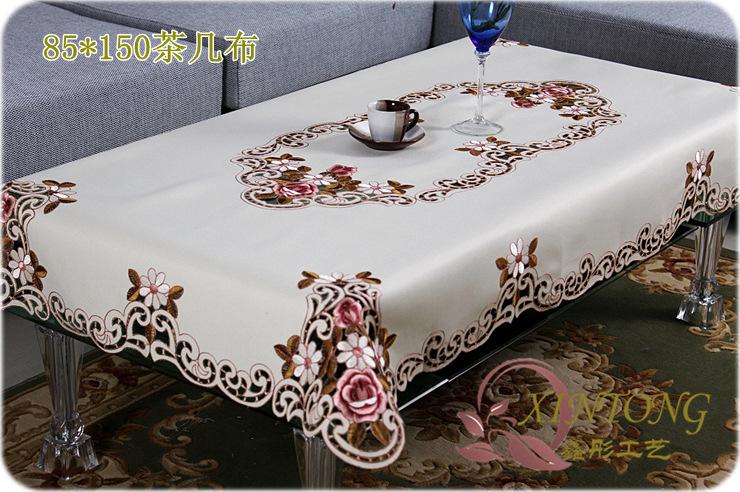 Handmade european-style garden dining table cloth embroidered tablecloth toalhas de mesa bordada Wedding tablecloth table cover(China (Mainland))