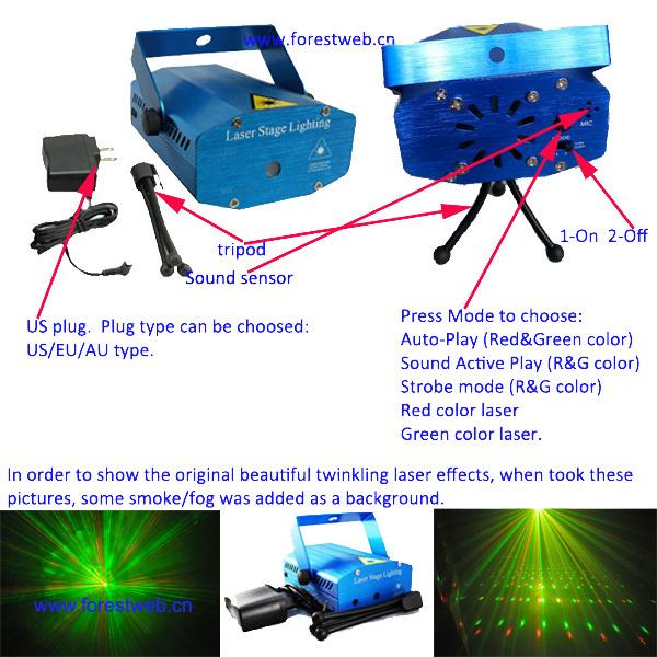free shipping mini red green twinkling laser light cristmas decoration laser luz dj light party light