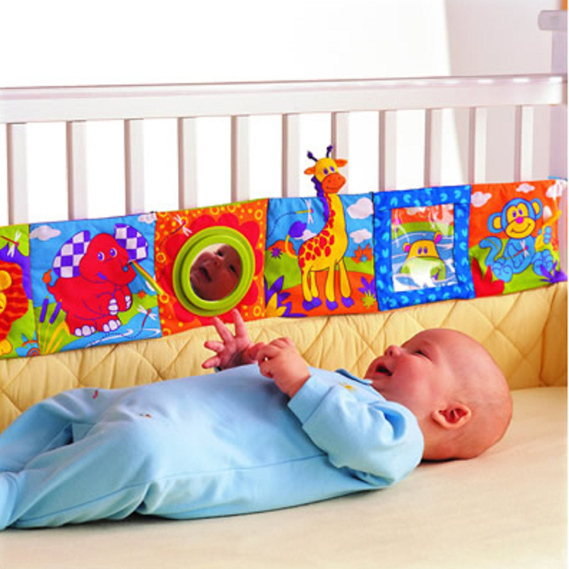 Kids Mirror Animal Bed Cognize Cloth Book Infant Baby Toy Cute Popular Baby Toys 0-12 Months(China (Mainland))