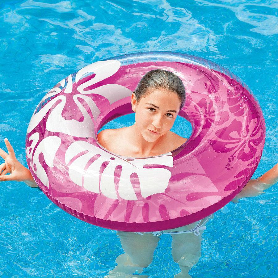 INTEX lotus flower three color swimming circle 59251 adult life circle floating circle adult thickening swimming ring(China (Mainland))