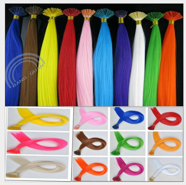 24pcs/lot New Party 16 Long Solid Colored Colorful Hair Extensions with beads and hook Cabelo 12 Colors free shipping<br><br>Aliexpress