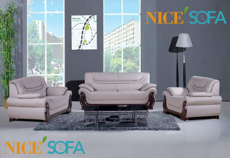leather sofa set 3 2 1 seat a602 in living room sofas from furniture on. Black Bedroom Furniture Sets. Home Design Ideas