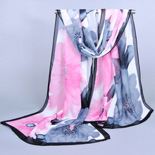ladies' voile Scarves hot! 2015 New Fashion Big flower scarf flowers chiffon scarf thin section Bohemia silk scarves wholesale(China (Mainland))