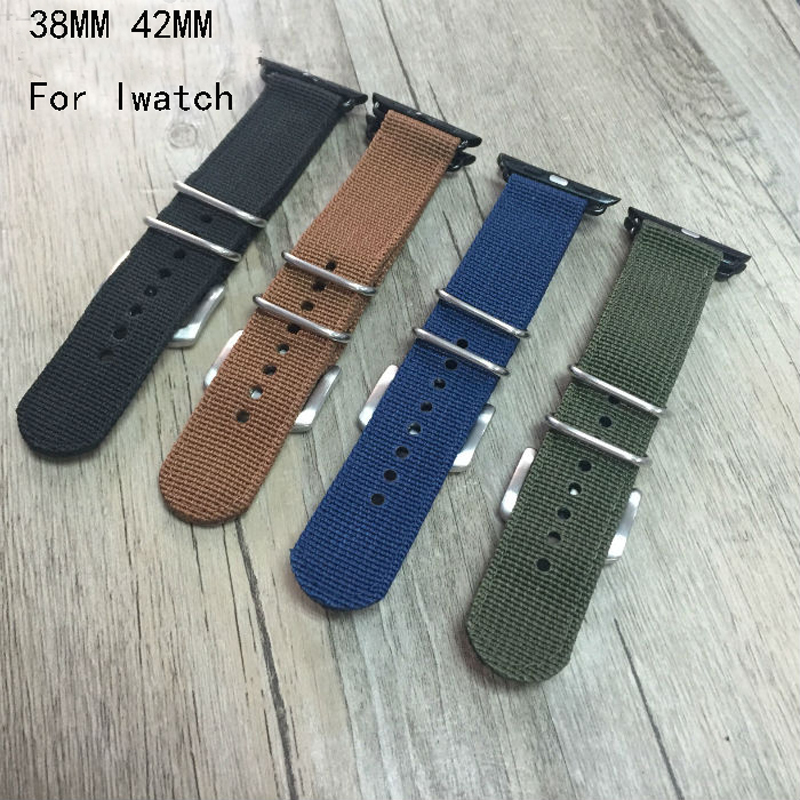 Special Offer Nylon Canvas sport Apple Watch Belt, Nylon 38MM 42MM Watch Band, For Iwatch Apple Watch,Free Shiping(China (Mainland))