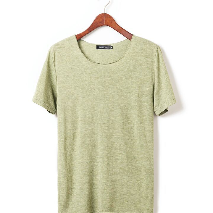 2016 new arrival summer solid color bamboo fiber cotton t for Bamboo fiber t shirt