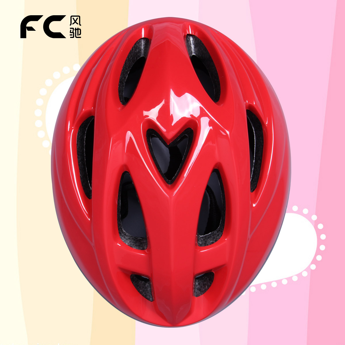 Fc child helmet pulley skateboard safety bicycle roller skating protective gear red - Professional Outdoor sport products store
