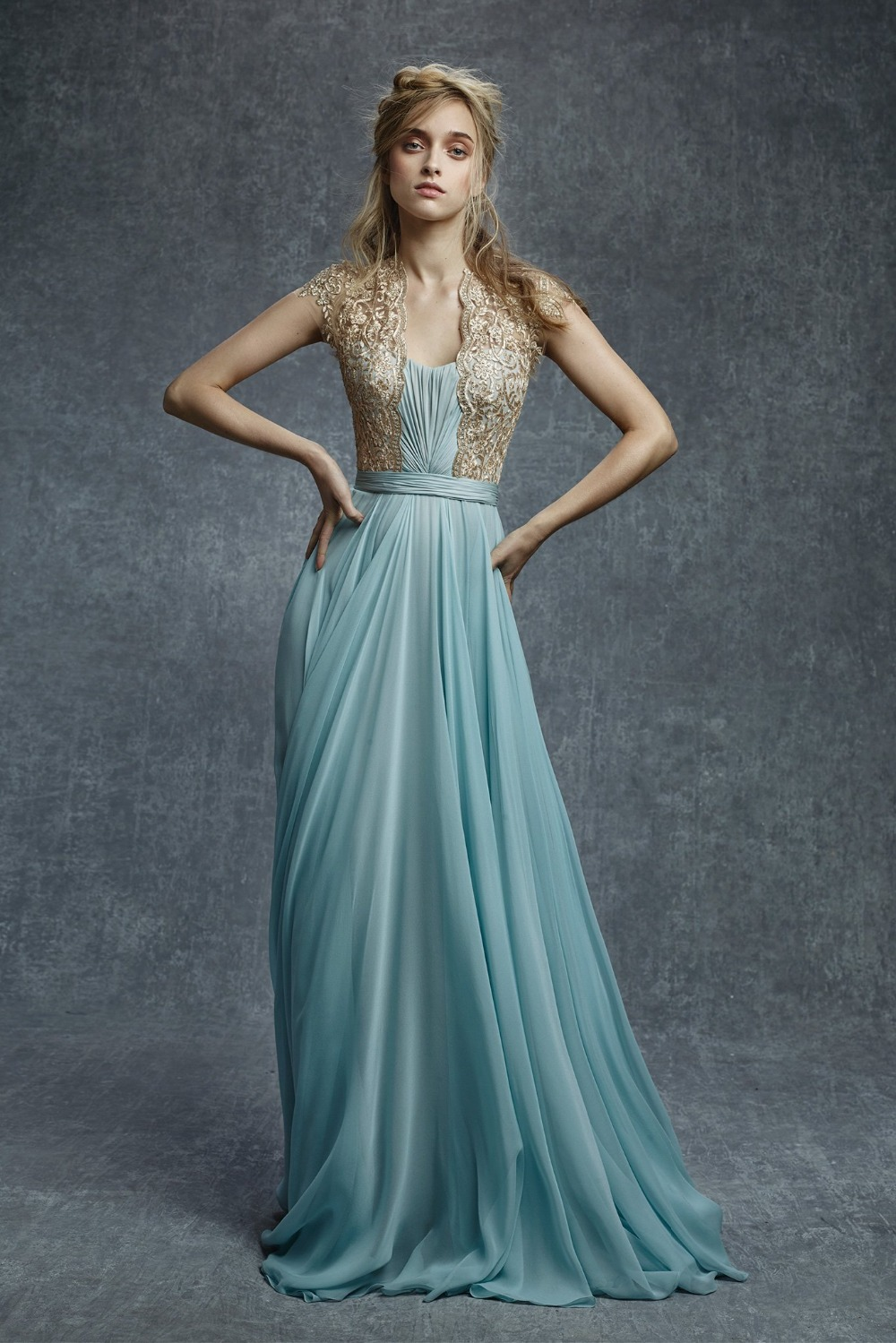 Blue and Gold Ball Dress | Dress images