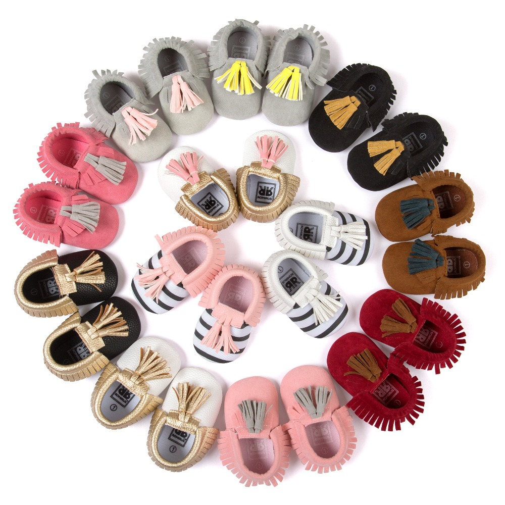 Fashion New Styles Suede PU Leather Infant Toddler Newborn Baby Children First Walkers Crib Moccasins Soft Moccs Shoes Footwear(China (Mainland))