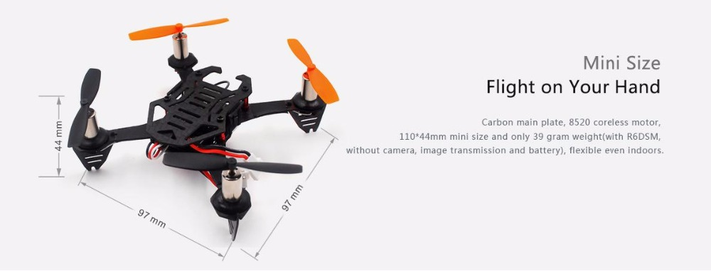 Free shipping Radiolink F110 Mini Drone Quadcopter CS360 FC R6DSM RX BNF Headless 360degree Throw Fly PID Auto Parameter Tune