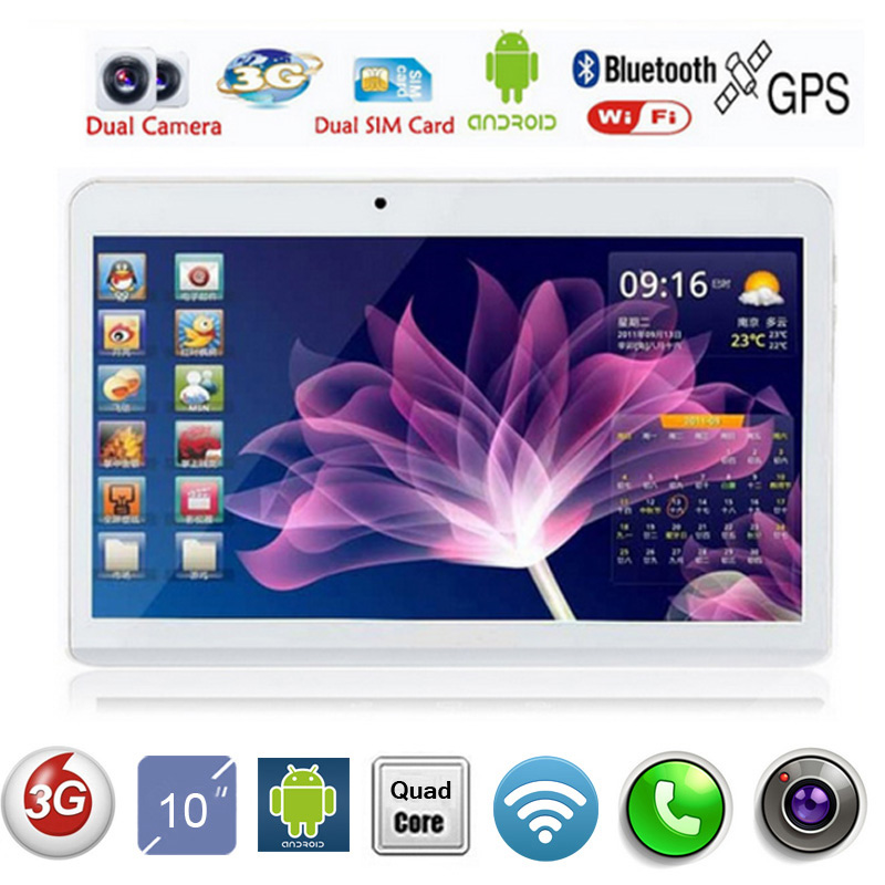 "2016 New 10 inch Quad Core 3G Phone Tablet Quad Core 2GB RAM 16/32GB ROM 5.0MP Dual Sim Cards GPS Tablet 10"" DHL Free Shipping(China (Mainland))"